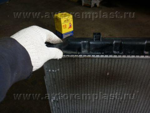 Ремонта пластикового бачка радиатора своими руками