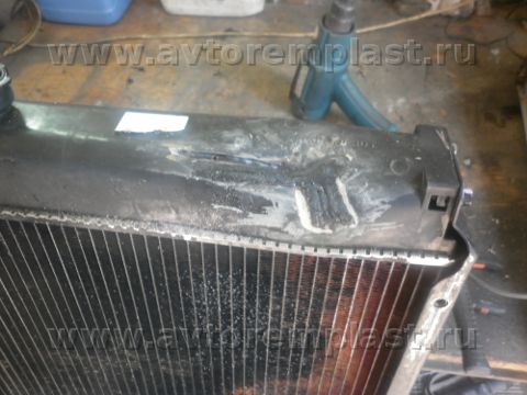 как отремонтировать радиатор toyota